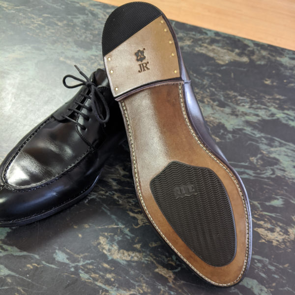 JR Leather Rubber Inlay Full Recraft with Combination Heels